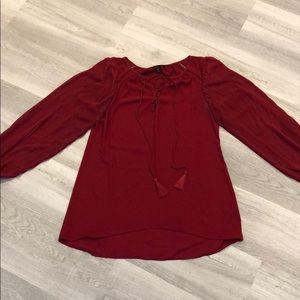 White House Black Market long sleeved blouse